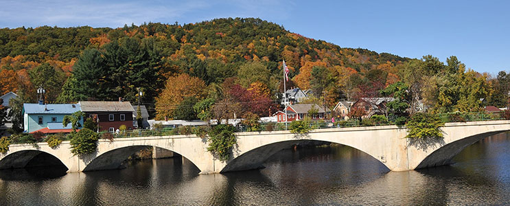 Bridge of Flowers, Shelburne Falls - photo by Peter MacDonald