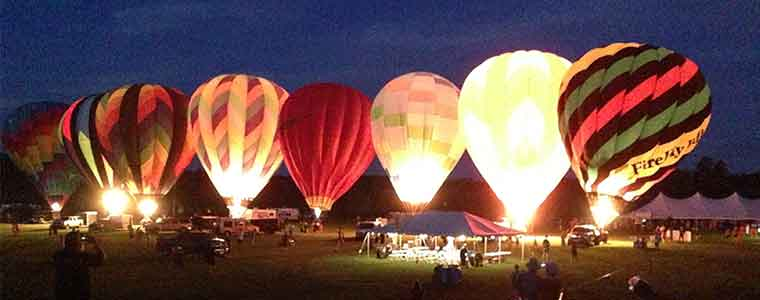 Balloon illumination at the Green River Festival