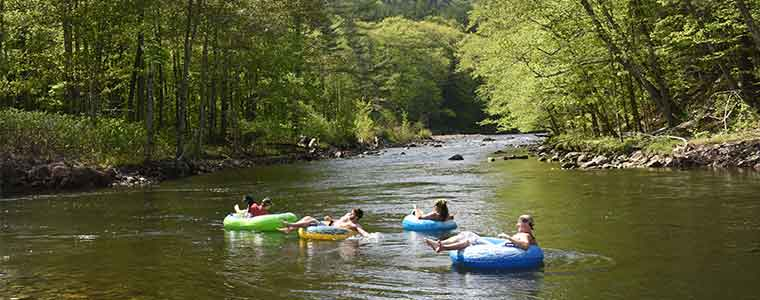 Tubing on the Deerfield River